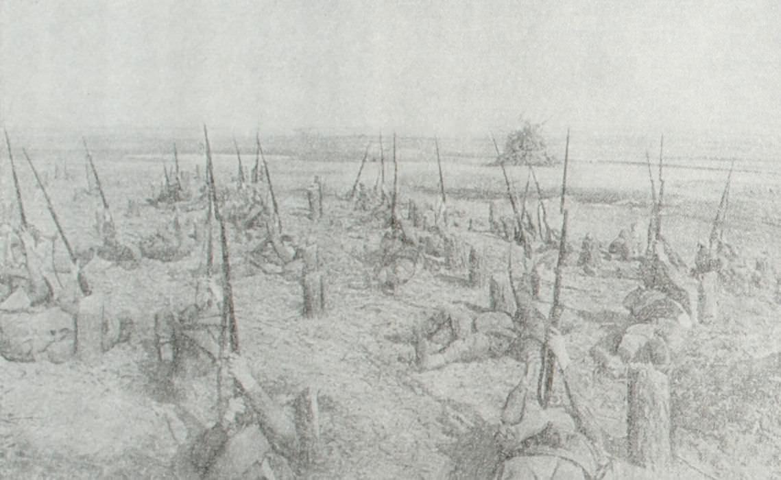 Стрельба по немецким самолетам. Южный фронт. Фотография. Май 1942 год.
