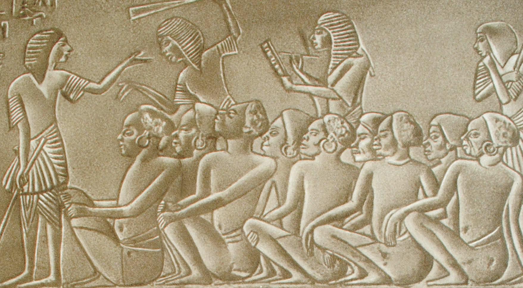 Пленные эфиопы (рабский рынок) Рельеф из гробницы царя Харемхеба. Египет. XIX династия.