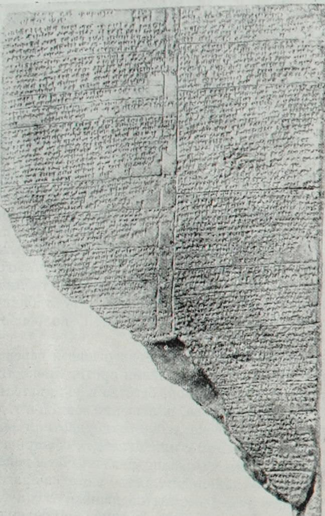 Глиняная таблица с текстом хеттских законов. Найдена в Богазкёе.