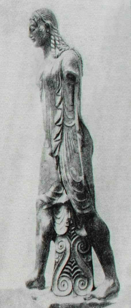 Статуя Аполлона из города Вейи. VI в. до н.э. Терракота.