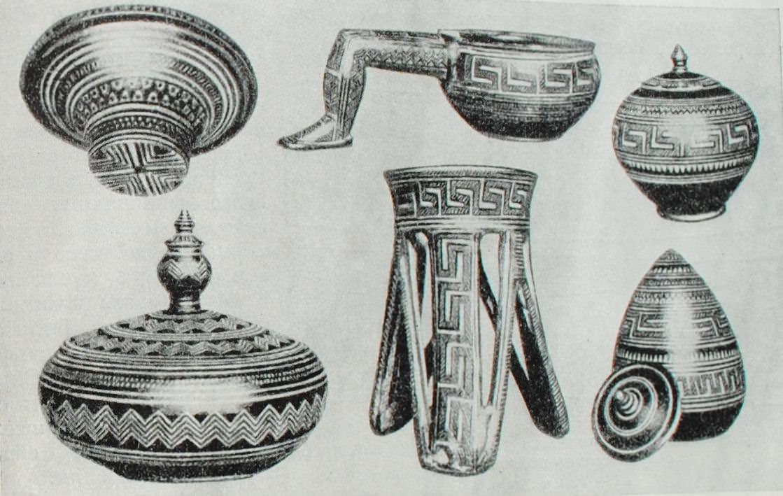 Сосуды геометрического стиля. Афины. IX в. до н.э.