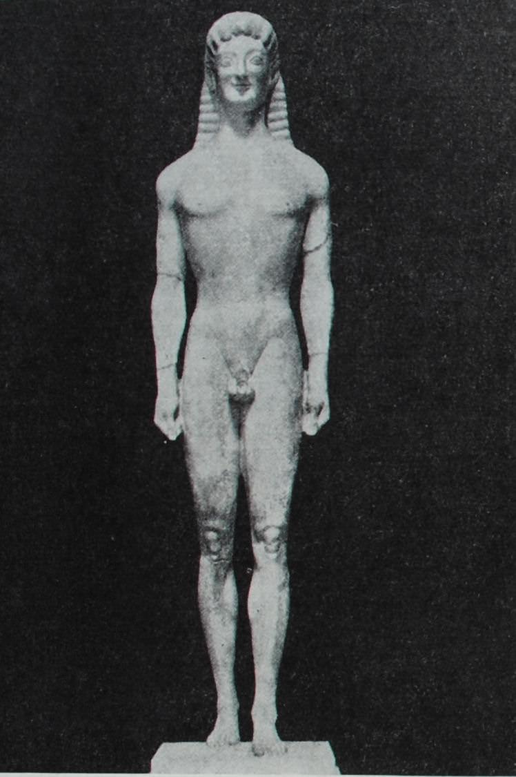 Статуя Апполона Тенейского. Середина VI в. до н.э. Мрамор