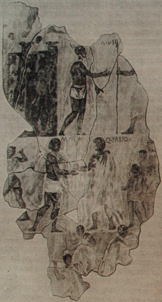 Эпизод из Самнитской войны. Фреска из Эсквилинского храма в Риме. III - II вв. до н.э.