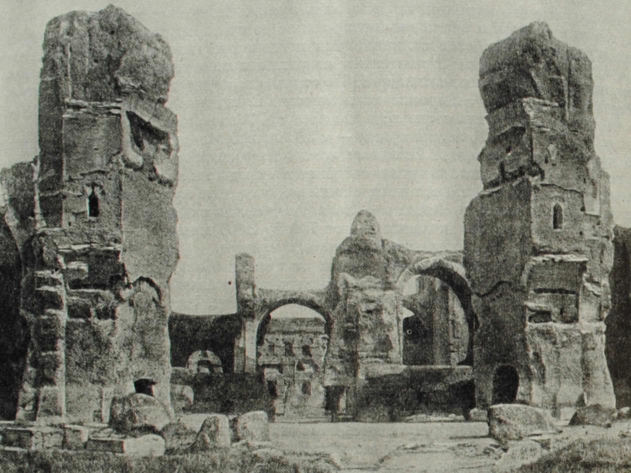 Развалины терм императора Каракаллы в Риме. III в. н.э.