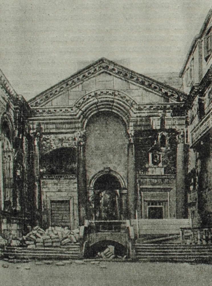 Вестибюль дворца императора Диоклетиана в Спалато. 305 г. н.э.