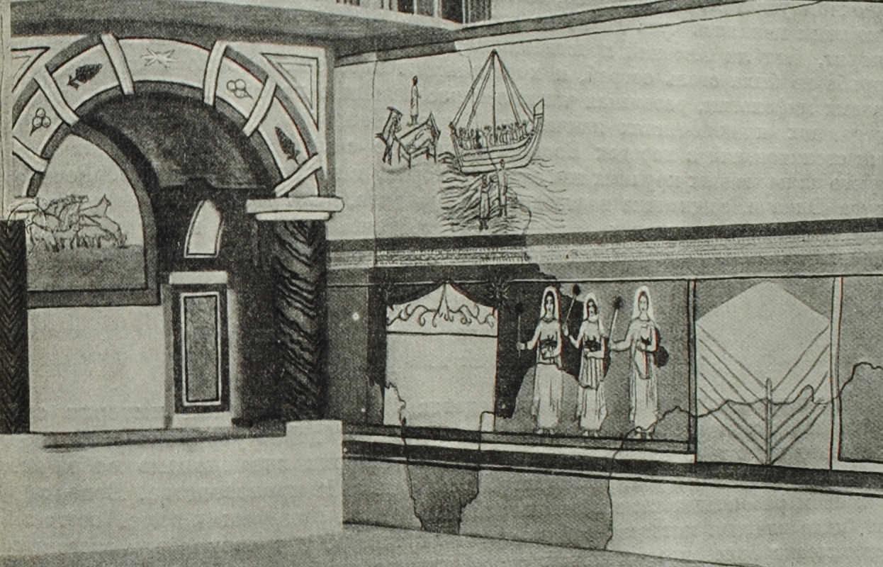 Христианская базалика в Дура-Эврос. V в. н.э. Реконструкция.