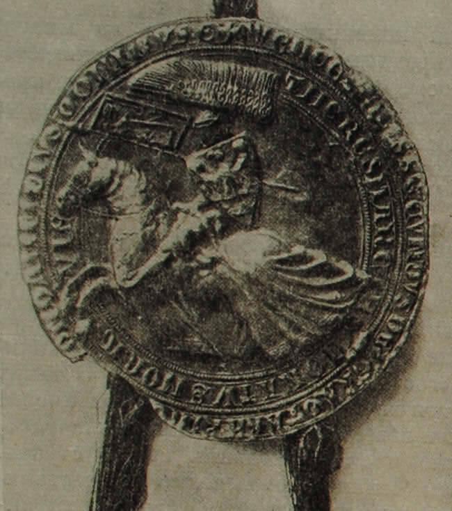 Печать Вацлава II. XIII в.
