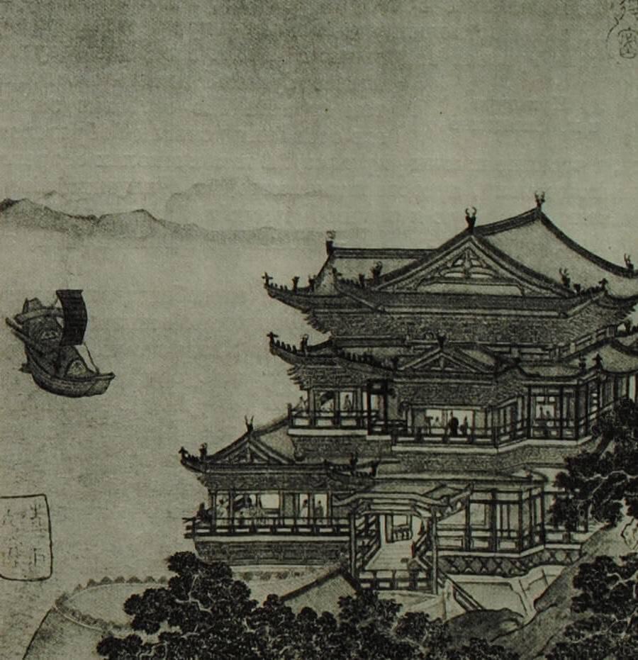 Дворец Тэн-вана в Хунчжоу (провинция Цзянси). Живопись на шёлке. X - XIII вв.