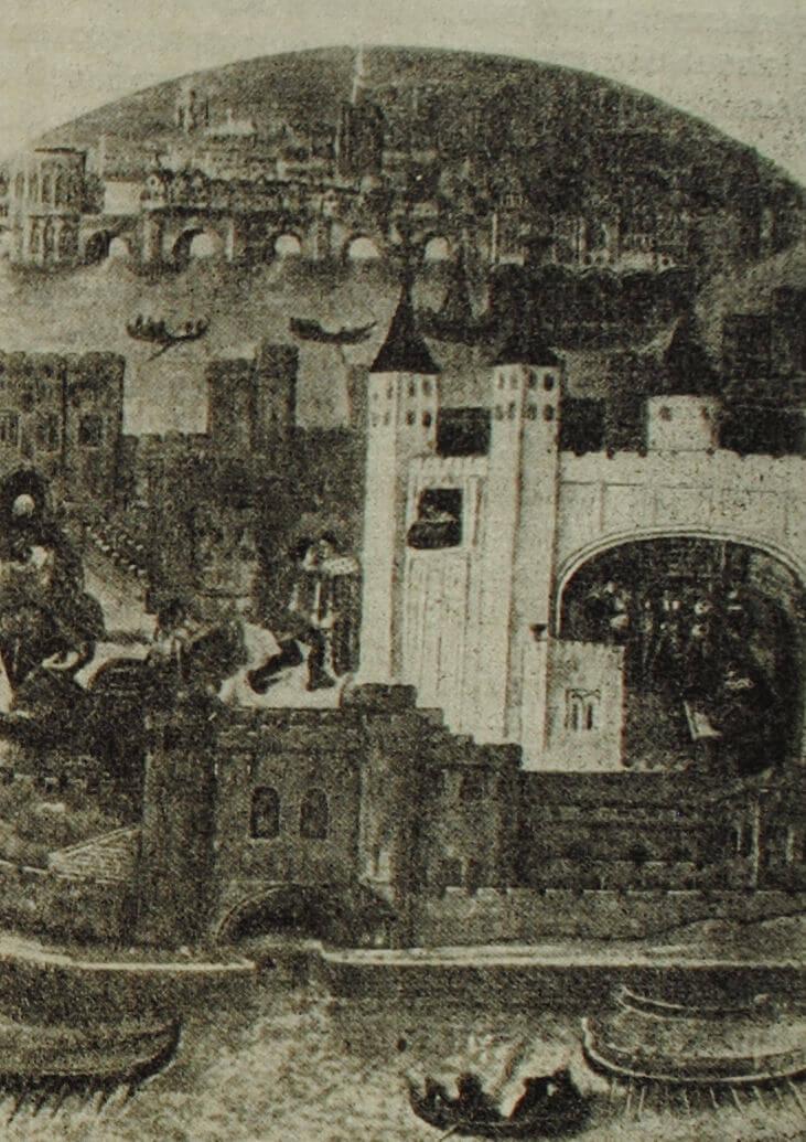 Лондонский Тауэр. Миниатюра. XV в.