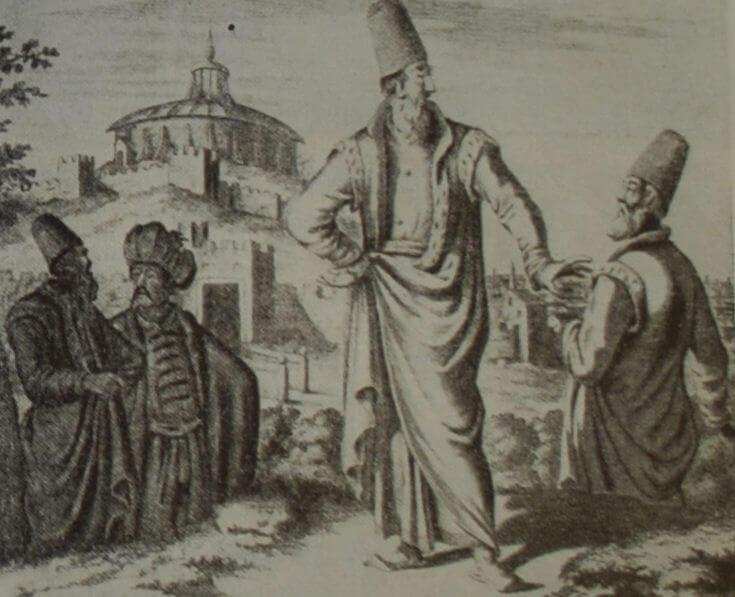 Сирийский муфтий и кадии. Гравюра начала XVIII в.