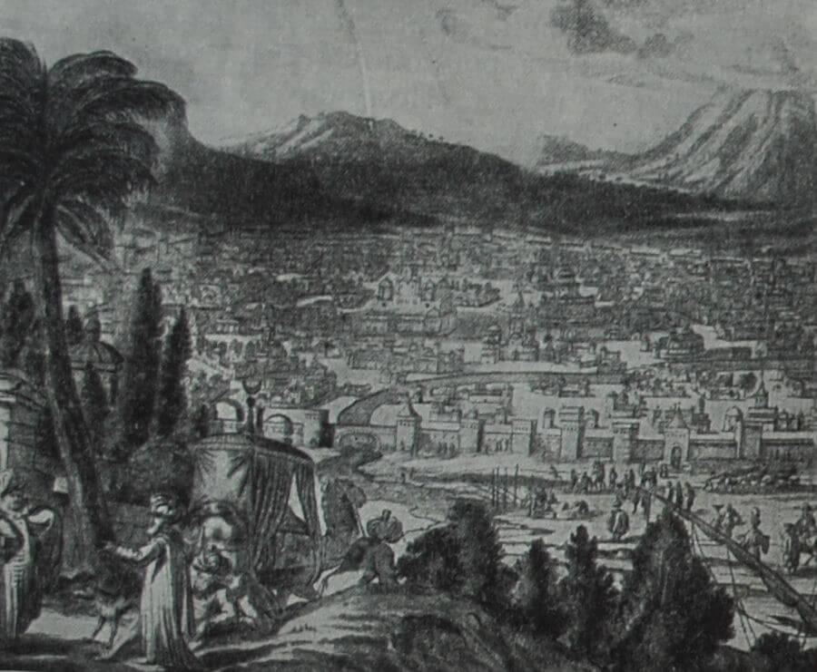 Дамаск. Гравюра начала XVIII в.