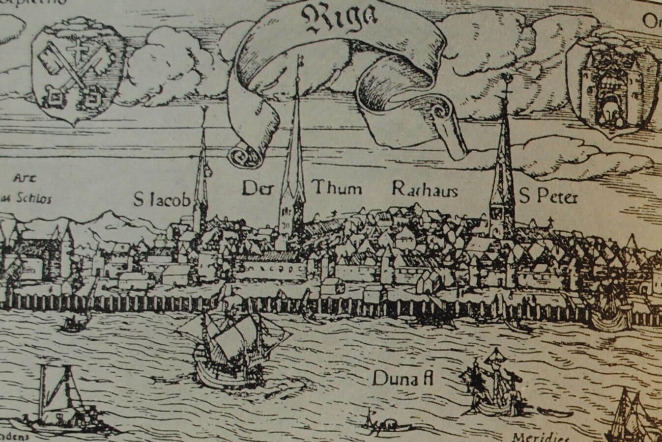Рига. Гравюра 1550 г.