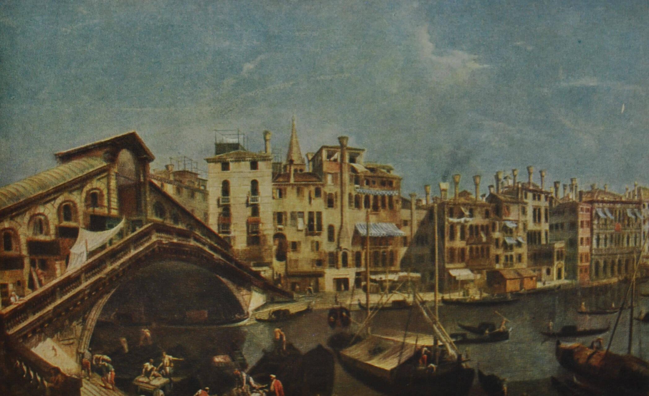 Искусство эпохи Просвещения История ру Мост Риальто в Венеции А Канале Каналетто