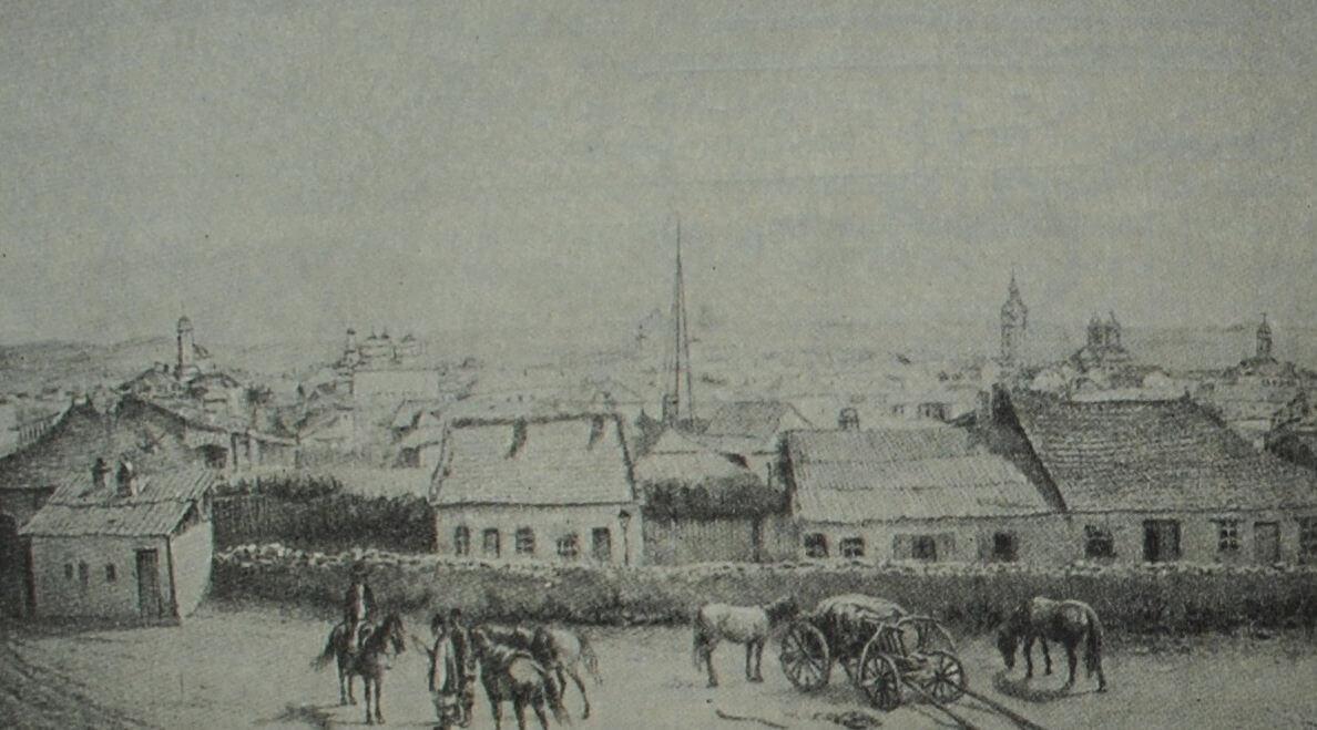 Яссы. Рисунок В. Тимма. 1858 г.