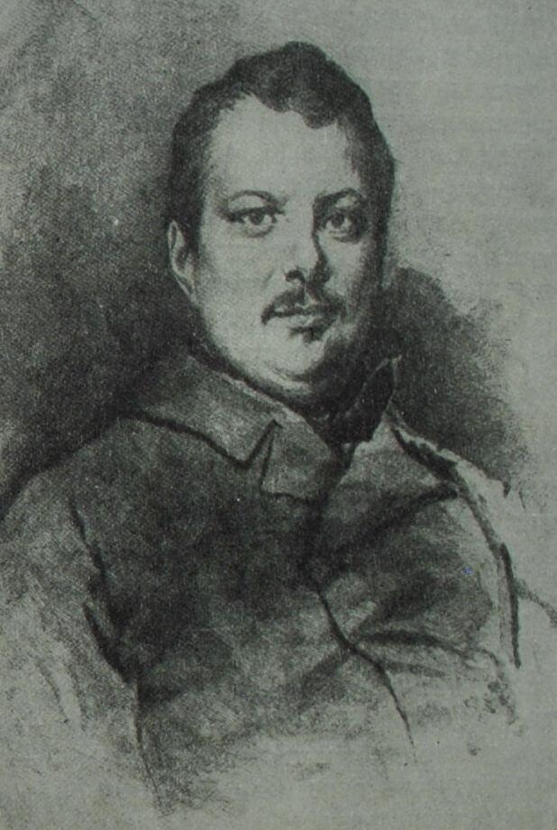 Оноре де Бальзак. Гравюра Э. Шике по рисунку Л. Буланже