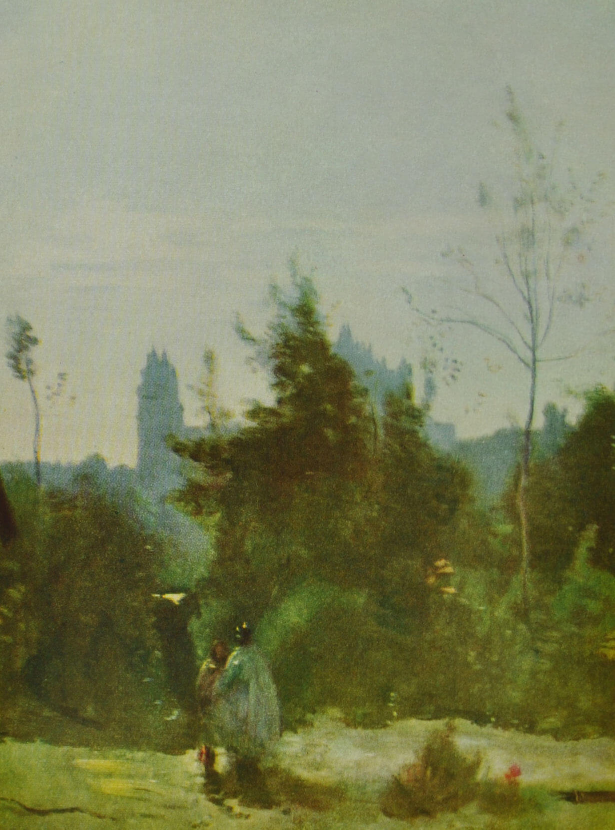 Замок Пьерфон. К. Каро. 1850 - 1860 гг.