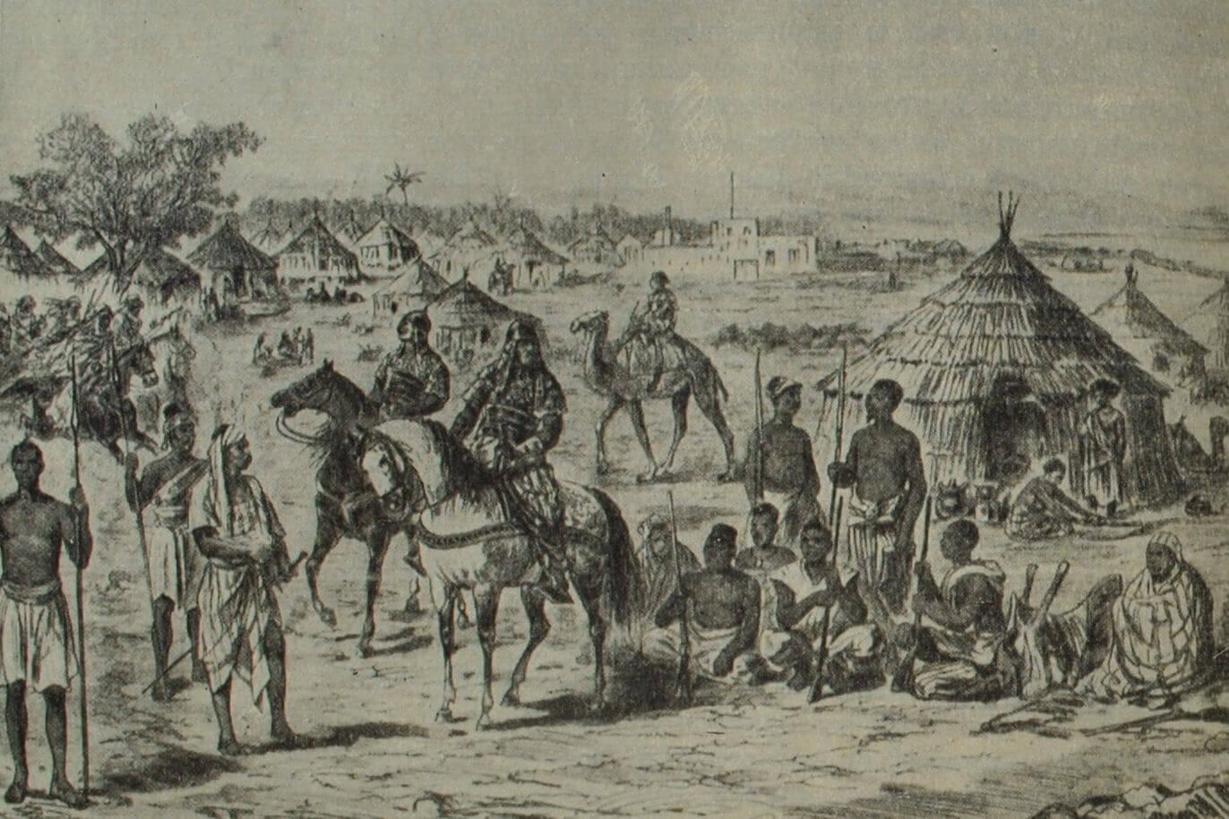 Лагерь Махди у Эль-Обейда. Гравюра. 1883 г.