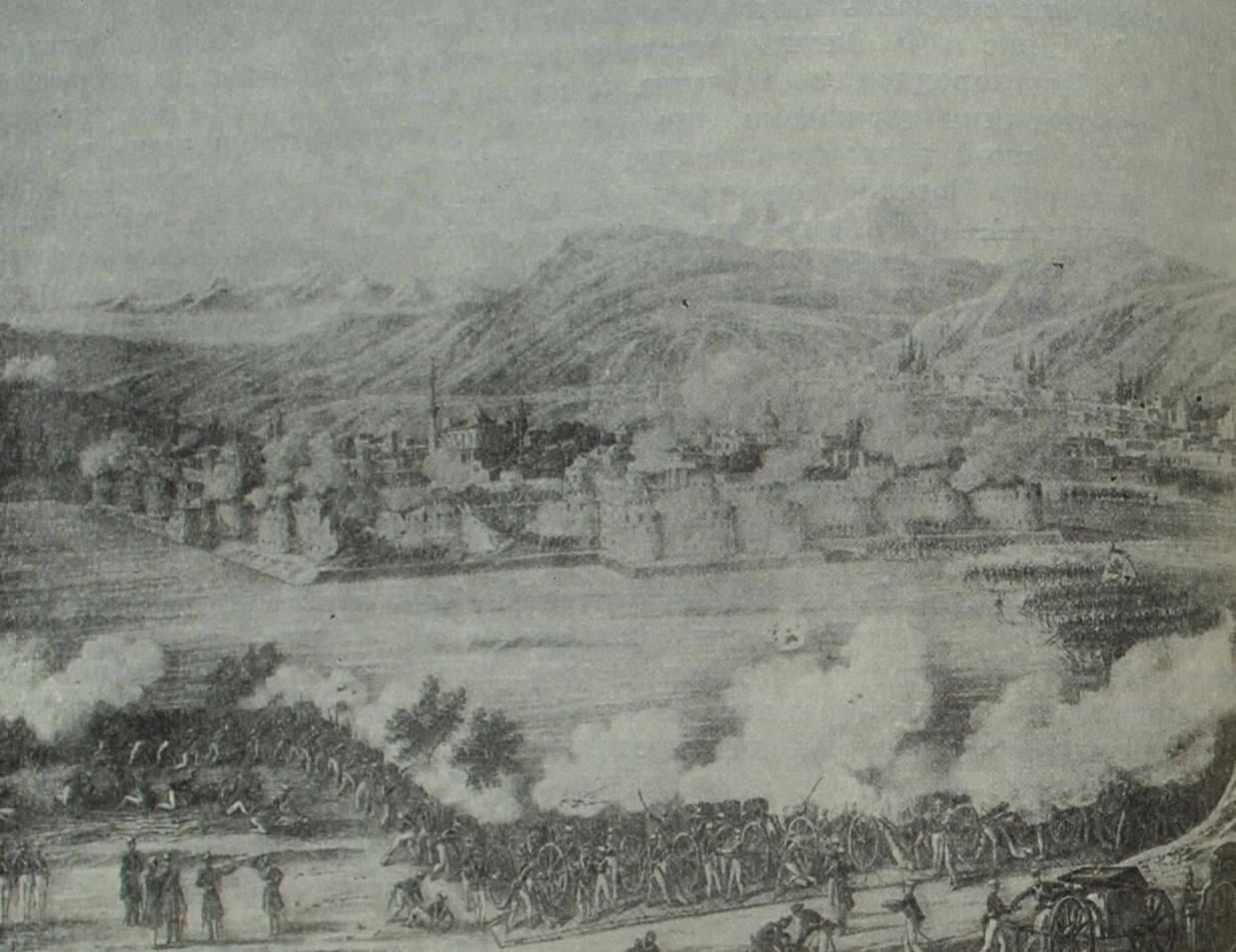Штурм крепости Ереван русскими войсками 1 октября 1827 г. Литография К.  Беггрова по рисунку