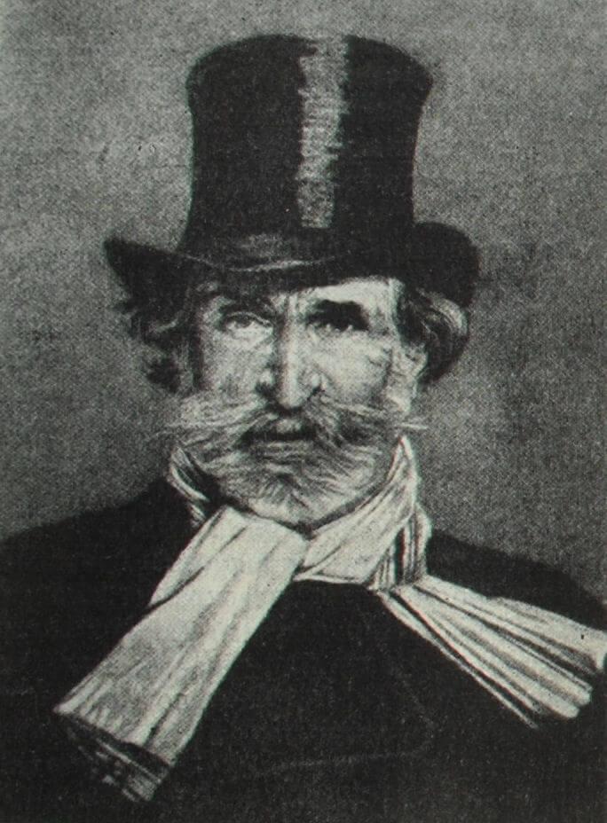 Джузеппе Верди. Гравюра Р. Лафона с портрета работы Дж. Больдини.