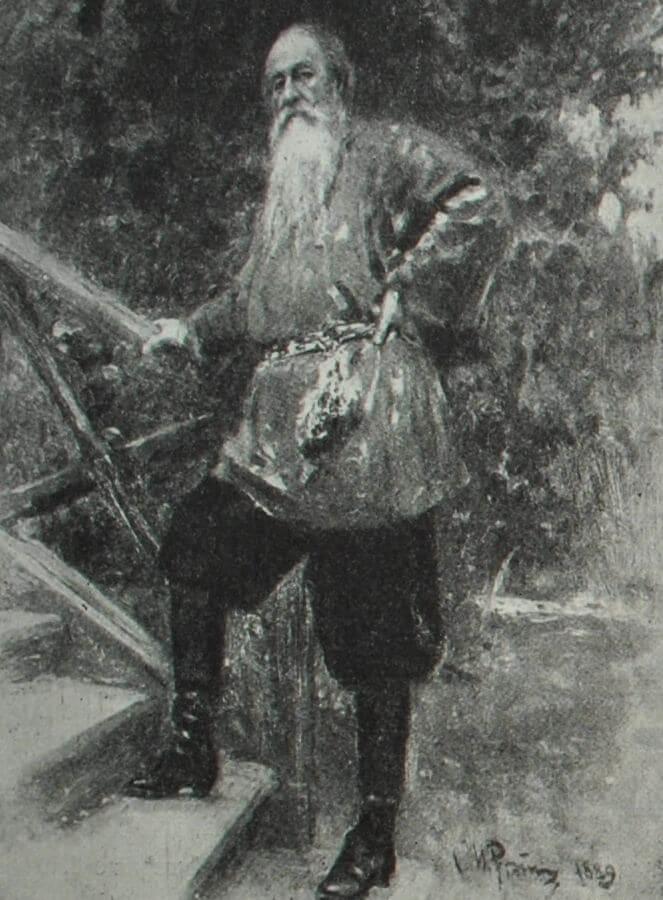Владимир Васильевич Стасов. Портрет работы И. Е. Репина. 1889 г.