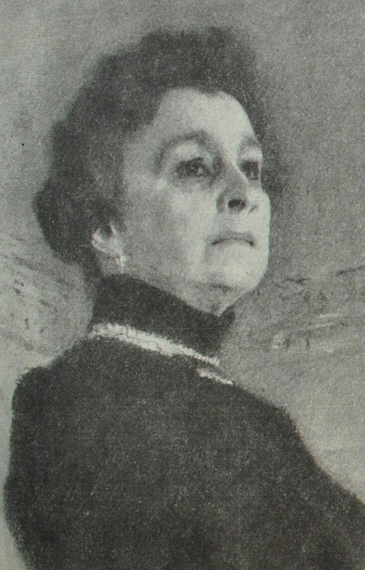 М.Н. Ермолова. Портрет работы В.А. Серова (фрагмент). 1905 г.
