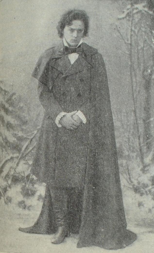 Л. В. Собинов в роли Ленского в опере П. И. Чайковского «Евгений Онегин». Фотография. 1900 г.